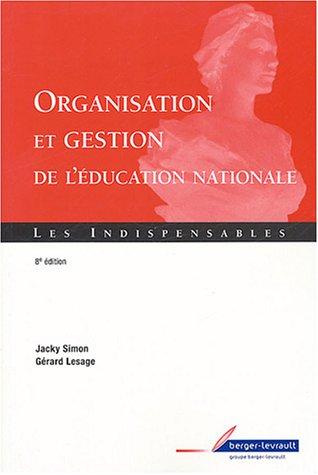 9782701314617: Organisation et gestion éducation nationale