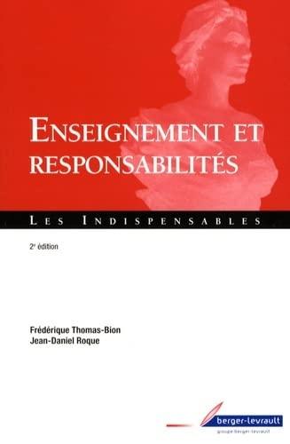 9782701316109: Enseignement et responsabilit�s