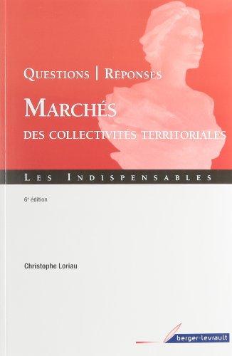 Marchés des collectivités territoriales (French Edition): Christophe ...