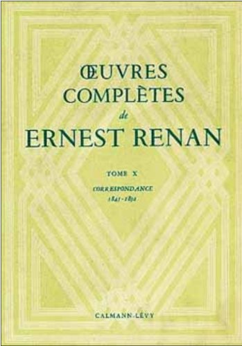 9782702110652: Oeuvres complètes : Tome 10 Correpondance 1845-1892