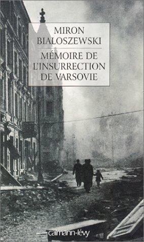 9782702132722: Mémoire de l'insurrection de Varsovie