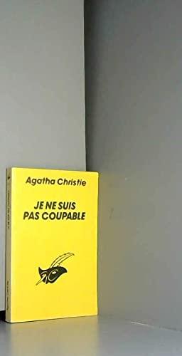 Je ne suis pas coupable: Agatha Christie