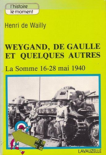 9782702500323: Weygand, De Gaulle, et quelques autres: La Somme 16-28 mai 1940 (Lhistoire, le moment)