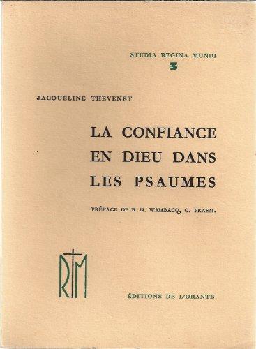 9782703110934: La confiance en dieu dans les psaumes