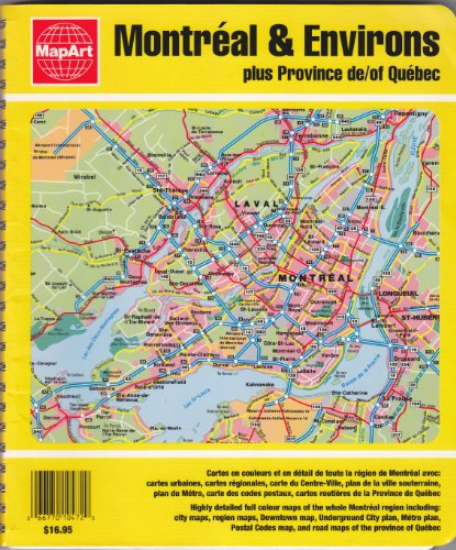 9782704200047: Montreal & Environs plus Province of Quebec: Street Atlas / Atlas Routier