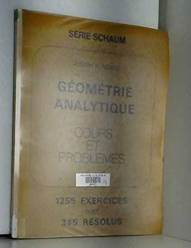 9782704210107: Schaum's outline of theory and problems of plane and solid analytic geometry (Schaum's outline series)