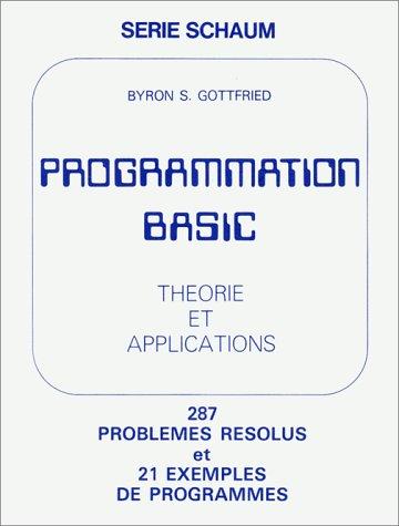 9782704210176: Programmation basic. Théorie et applications