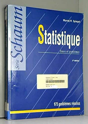 9782704212774: STATISTIQUE. Cours et probl�mes, 2�me �dition
