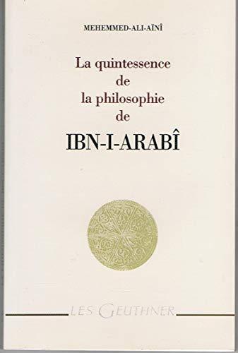 9782705336646: La quintessence de la philosophie de ibn-I-arabi