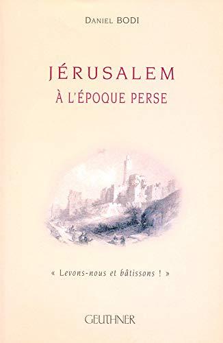 9782705337186: Jérusalem à l'époque Perse