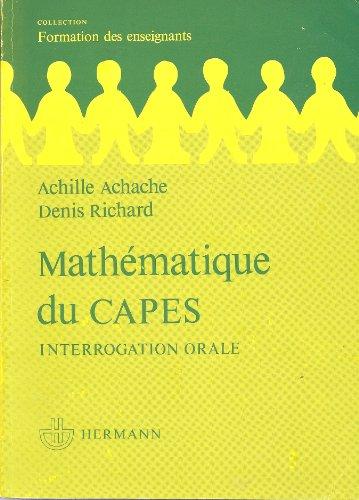 9782705613778: Math�matique du CAPES