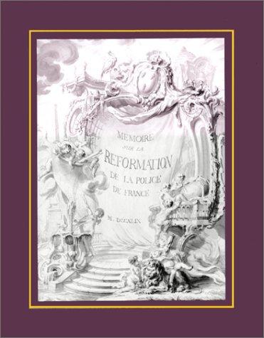Memoire sur la reformation de la police: Guillaute