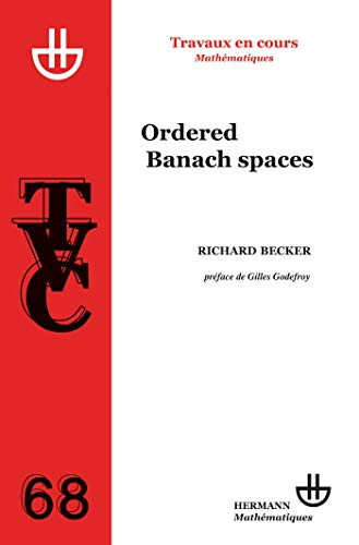 9782705667214: Ordered Banach spaces