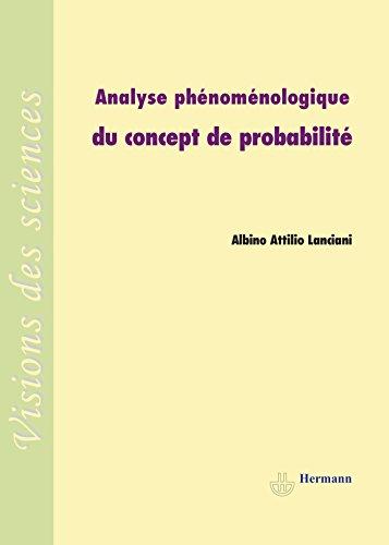 Analyse phénoménologique du concept de probabilité: Albino Lanciani