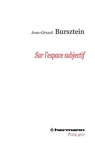 9782705682392: Sur l'espace subjectif