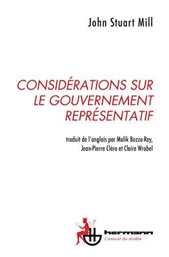 9782705682460: Considérations sur le gouvernement représentatif