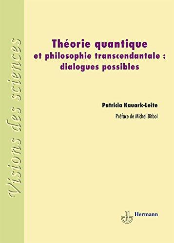 9782705683191: theorie quantique et philosophie transcendantale