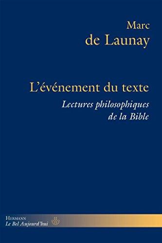 9782705690366: Lectures philosophiques de la Bible : Volume 2, L'�v�nement du texte