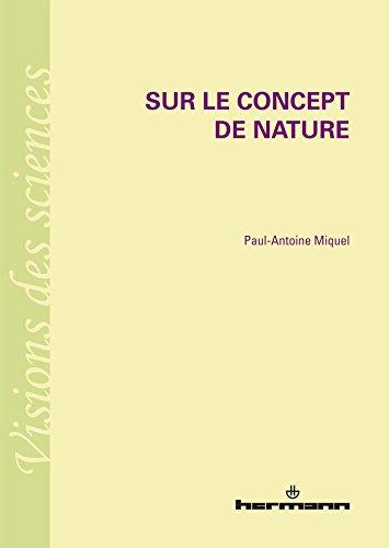 9782705690663: Sur le concept de nature