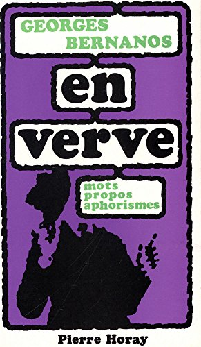 9782705800147: Georges Bernanos en verve (En verve, 17) (French Edition)