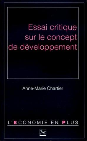 9782706106804: Essai critique sur le concept de développement