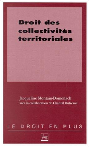 9782706107610: Droit des collectivités territoriales