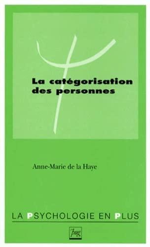 9782706107986: La catégorisation des personnes