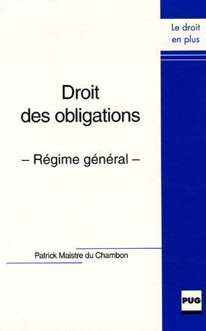 9782706113116: Droit des obligations : Régime général