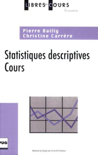 9782706114120: Statistiques descriptives (French Edition)