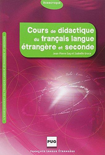 9782706114595: Cours de didactique du français langue étrangère et seconde