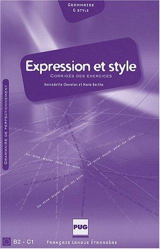 9782706115110: expression et style - corriges - nouvelle couverture