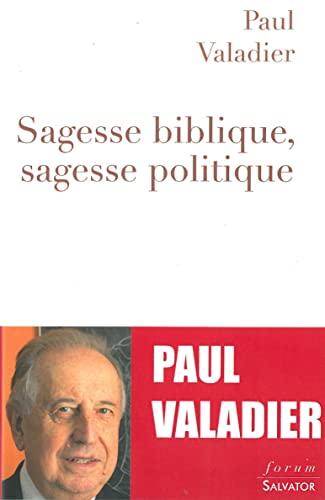 9782706712715: Sagesse biblique, sagesse politique