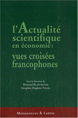 9782706819520: actualités scientifiques en économie