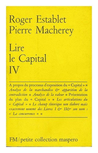 9782707102317: Lire Le capital
