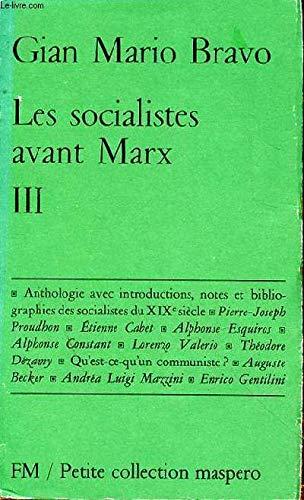 9782707103154: Les Socialistes avant Marx I
