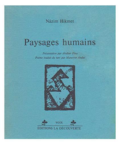 9782707106148: Paysages humains