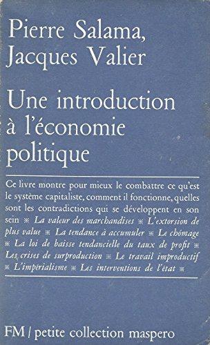9782707106186: Une introduction � l'�conomie politique