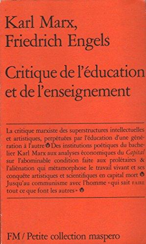 9782707108777: Critique de l''éducation et de l'enseignement
