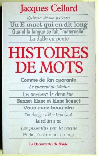 9782707115393: Histoires de mots