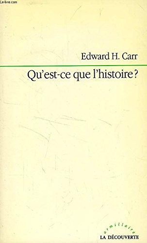 9782707117373: Qu'est-ce que l'histoire ? : Conférences prononcées... à l'Université de Cambridge,janvier-mars 1961