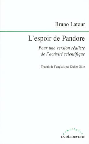 L'espoir de Pandore (9782707129529) by Bruno Latour
