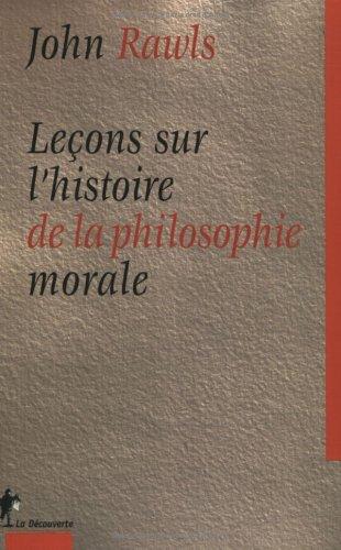 9782707135223: Leçons sur l'histoire de la philosophie morale