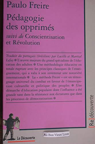 9782707135292: Pédagogie des opprimés suivi de Conscientisation et Révolution
