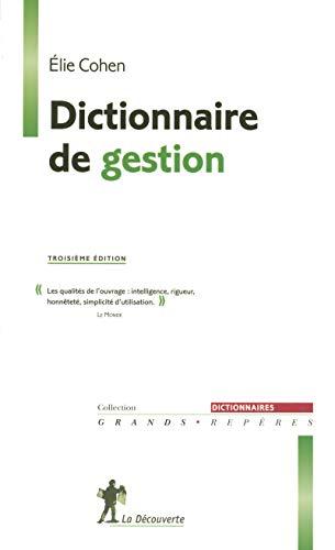 9782707135483: Dictionnaire de gestion. 3�me �dition
