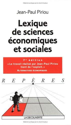 Lexique des sciences économiques et sociales: Jean-Paul Piriou