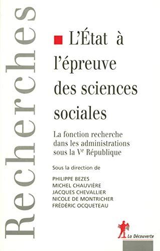 l'etat a l'epreuve des sciences sociales: Collectif