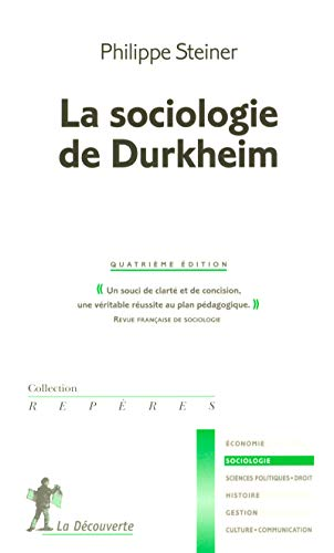 9782707147257: La sociologie de Durkheim (French Edition)