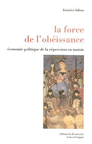 """""""la force de l'obéissance ; économie politique de la répression en ..."""