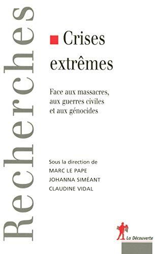 9782707149800: crises extrêmes