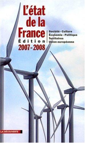 9782707152527: L'état de la France : Un panorama unique et complet de la France, édition 2007-2008